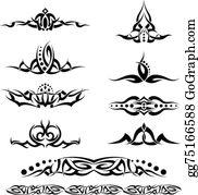 Vector Art - Tattoo ring design. Clipart Drawing gg75166588 - GoGraph