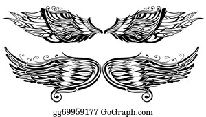 78a1aee53 Tattoo Wings Clip Art - Royalty Free - GoGraph