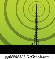 Cell Tower Clip Art - Royalty Free - GoGraph