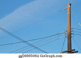 Stock Images - Telephone pole  Stock Photography gg4070736 - GoGraph