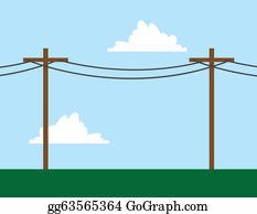 Telephone Pole Clip Art - Royalty Free - GoGraph