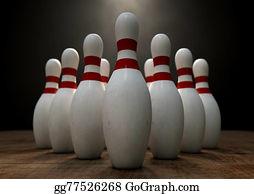Bowling Pins Stock Photos - GoGraph
