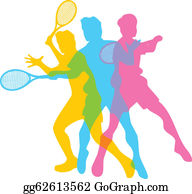 Tennis Serve Clip Art