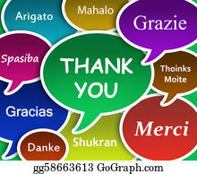 stock illustration thank you phrase in different languages rh gograph com Thank You All thank you in multiple languages clip art