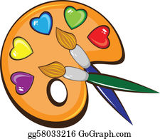 Art painting. Artist clip royalty free