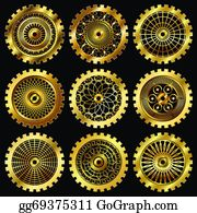 Gears Watch Parts Clip Art - Royalty Free - GoGraph