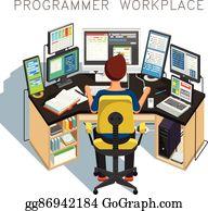 Computer Programmer Cartoon Royalty Free Gograph