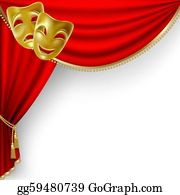 Theater Clipart #1069763 - Illustration by LoopyLand