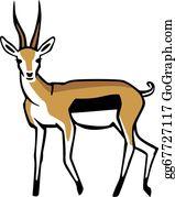 vector art gazelle clipart drawing gg58175363 gograph rh gograph com gazelle silhouette clip art Zebra Clip Art