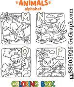 Vektorkunst Vektor Bambus Stock Abc Alphabet Eps Clipart