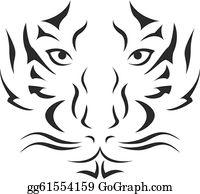 3eff752c3 Tiger Tattoo Clip Art - Royalty Free - GoGraph