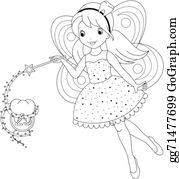 Vector Art - Tooth fairy coloring page. EPS clipart gg71238147 - GoGraph