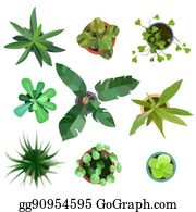 Top View Plants Easy Copy Paste In Your Landscape Design Projects Or Architecture Plan
