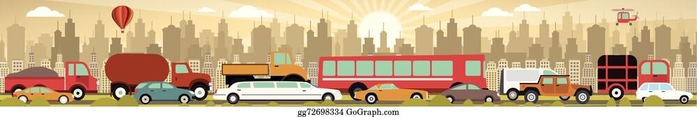 Traffic Jam Clip Art Royalty Free Gograph