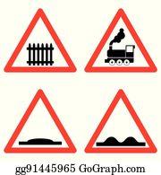 Railroad Crossing Cartoon - Royalty Free - GoGraph