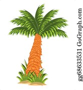 Editable Top View And Isolated On White Background Date Palm.. Royalty Free  Cliparts, Vectors, And Stock Illustration. Image 120251982.