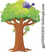 Treetop Cartoon Royalty Free Gograph Vector clip art illustration with. treetop cartoon royalty free gograph