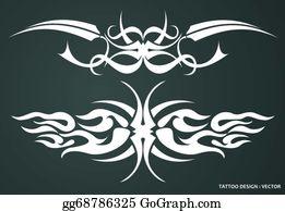 cd1741f6f Tribal Tattoo Design Clip Art - Royalty Free - GoGraph