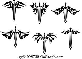 c2d86d252 Dagger Tattoo Clip Art - Royalty Free - GoGraph
