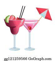 Cocktail Umbrella Cartoon Royalty Free Gograph