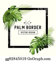 Palm Leaf Border Clip Art Royalty Free Gograph Find the perfect tropical leaf border stock illustrations from getty images. palm leaf border clip art royalty