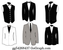 Tuxedo Clip Art - Royalty Free - GoGraph