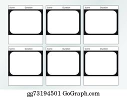 Vector Illustration - Tv commercial storyboard template x6. Stock ...