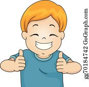 Thumbs up kids. Child clip art royalty