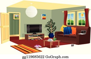 Livingroom Clip Art - Royalty Free - GoGraph