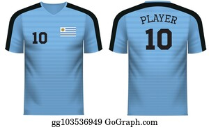 1d12c8a5c0f Uruguay Fan sports tee shirt in generic country colors