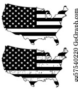 Free American Flag Clip Art with No Background - ClipartKey