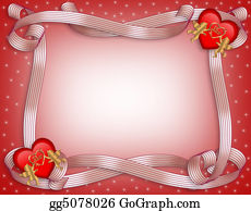 Valentines Day Border Hearts Stock Illustrations Royalty Free