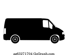 Black And White Van Clip Art Royalty Free Gograph