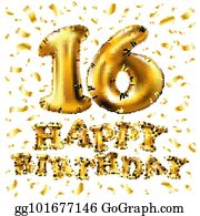 16th Anniversary Birthday Clip Art Royalty Free Gograph