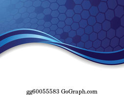 Abstract Blue Crown Background Clip Art - Royalty Free - GoGraph