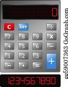Calculator Clip Art - Royalty Free - GoGraph