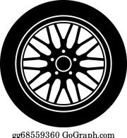 Wheels Clip Art - Royalty Free - GoGraph