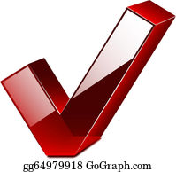 Check And Cross Mark Clip Art - Royalty Free - GoGraph