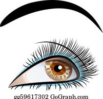 Eyelashes Clip Art - Royalty Free - GoGraph