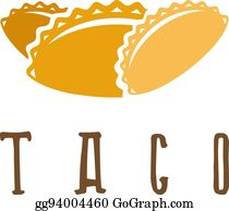 Taco Template | Vector Illustration Vector Design Template Of Taco Mexican Food