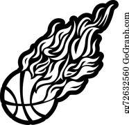 Basketball on Fire Free Vector - Download Free Vectors, Clipart Graphics &  Vector Art