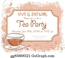 Vector Stock Vector Hand Drawn Latte Party Invitation Card
