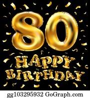 80th Birthday Clip Art Royalty Free Gograph