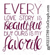 Our Love Story Clip Art Royalty Free Gograph
