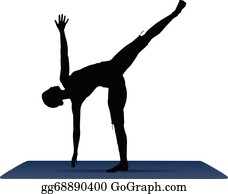 half moon pose clip art  royalty free  gograph