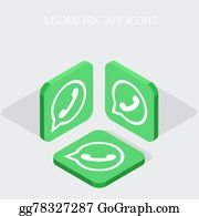 Whatsapp Clip Art - Royalty Free - GoGraph