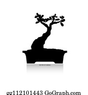Bonsai Tree Silhouette Clip Art Royalty Free Gograph