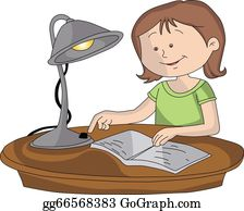 Student Studying Clip Art