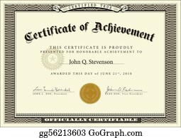 Vector Ornate Certificate Template · Vector Official Certificate  Official Certificate Template