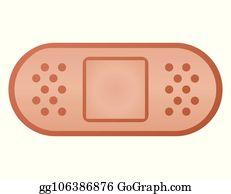 Plaster Bandage Clip Art - Royalty Free - GoGraph